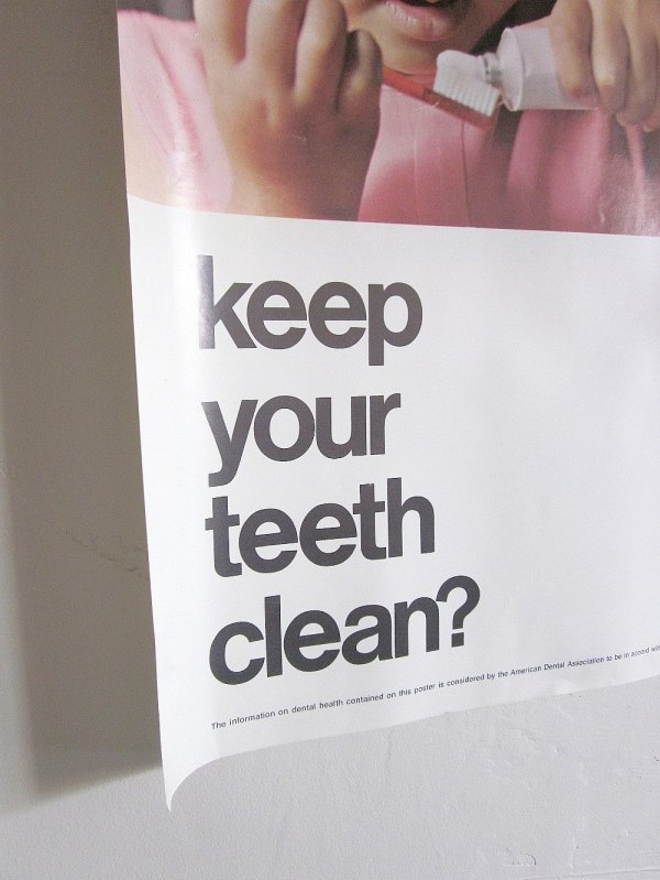 Vintage Educational Poster Dental Health 1970s