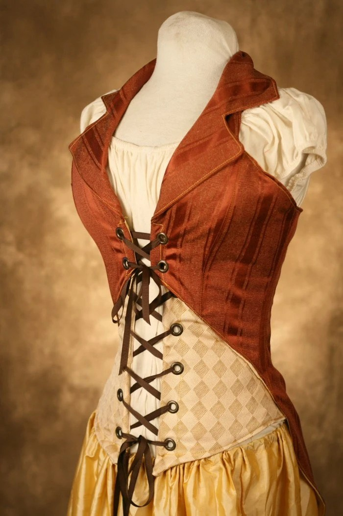 Items similar to rust pirate bodice on Etsy
