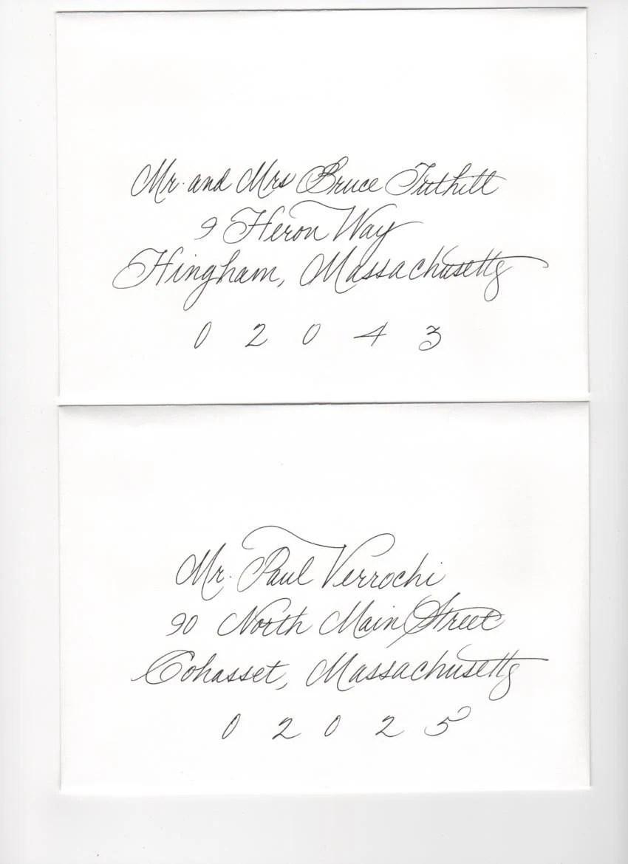 Items similar to Handwritten Envelopes/Calligraphy on Etsy