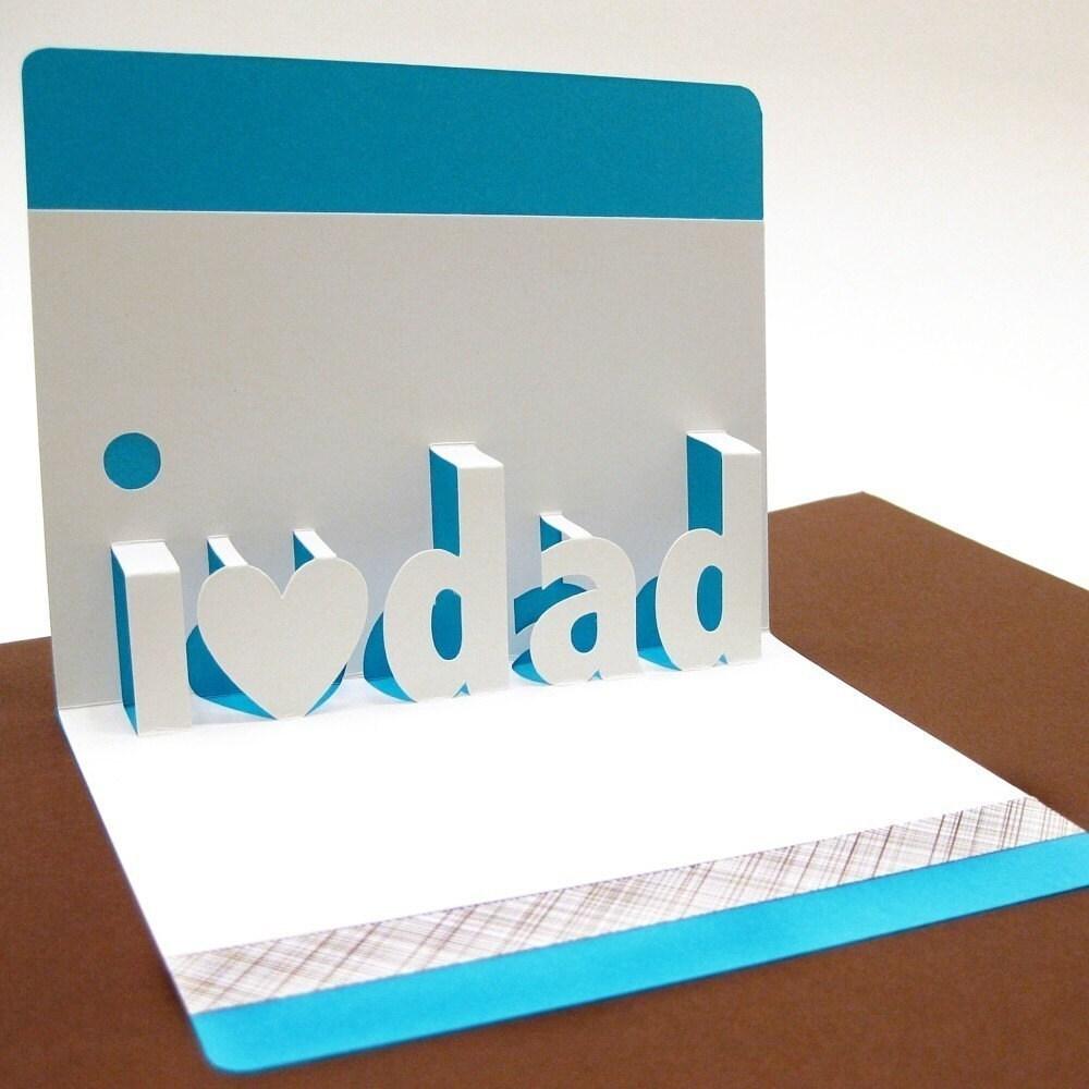 I Love Dad Pop Up Card