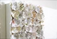 Items similar to Paper flower wall art canvas, garden ...