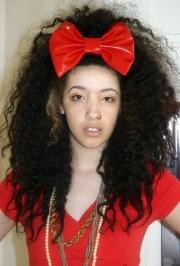 huge red pvc big scene queen hair