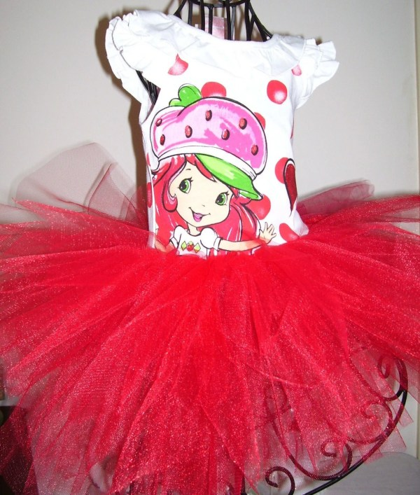 Strawberry Shortcake Tutu Dress Size 3t.ready
