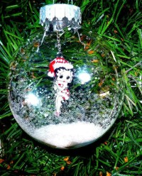 Betty Boop Christmas Ornament Snow Glitter Decoration Semi