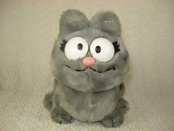 Nermal Plush Grey Tabby Cat from Garfield Comic by
