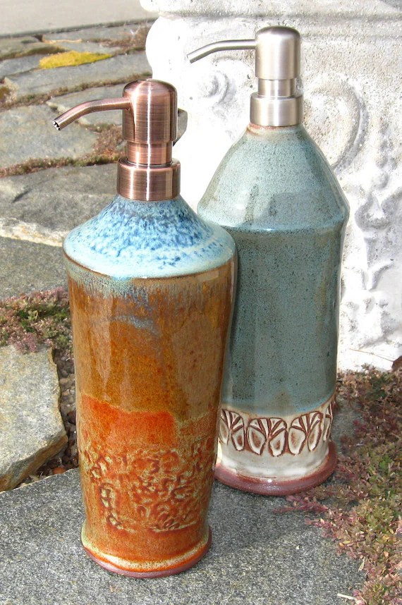 Tall Kitchen Sink Soap Dispenser With Copper Pump
