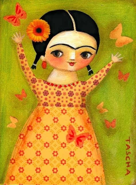 Cute Wallpapers For Springtime Original Canvas Painting Frida Kahlo Springtime Mixed Media By
