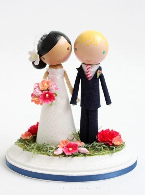 custom wedding cake topper no arch