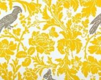 Premier Prints FABRIC Home Decor Yellow Grey Bird