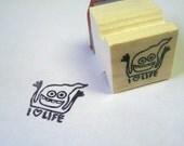 I -heart- Life - rubber stamp - fishcakesoboy