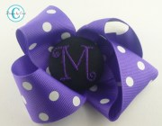 design monogram hair bow