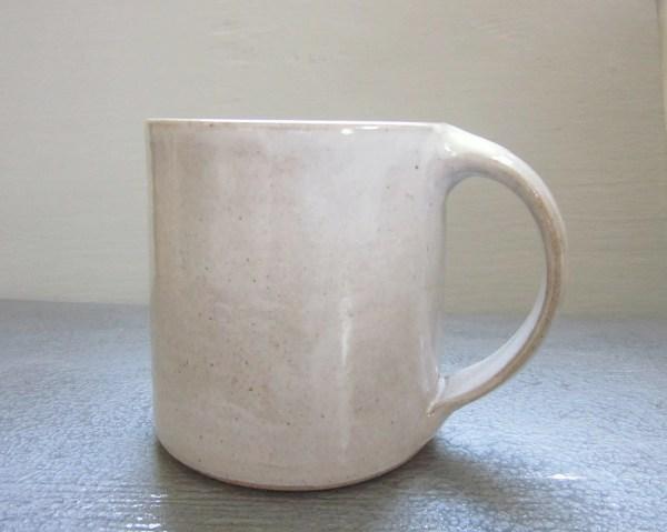 Large Rustic White Coffee Mug 18 Oz Jdwolfepottery