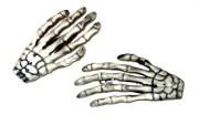 skeleton hands hair clips barrettes