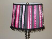 Items similar to hot pink and black ribbon lamp shade on Etsy