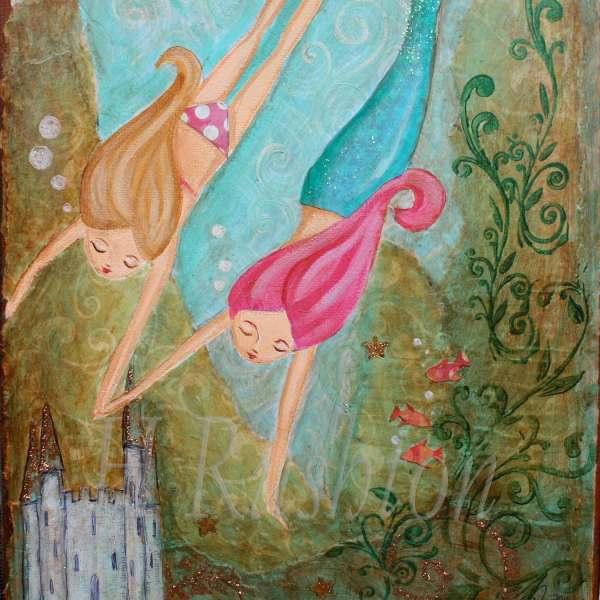 Mermaid Wall Art Kids Children Decor