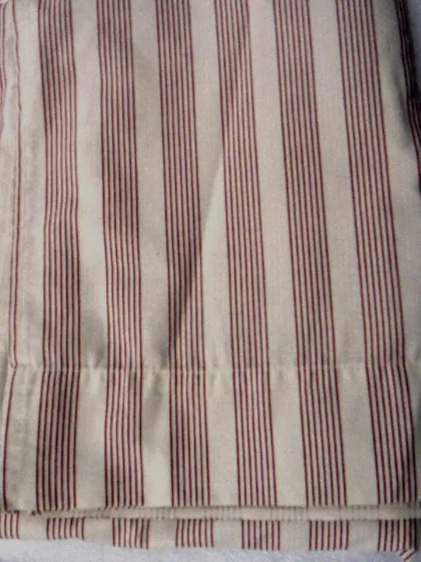 Dan River Burgandy Striped Percale Twin Flat Sheet