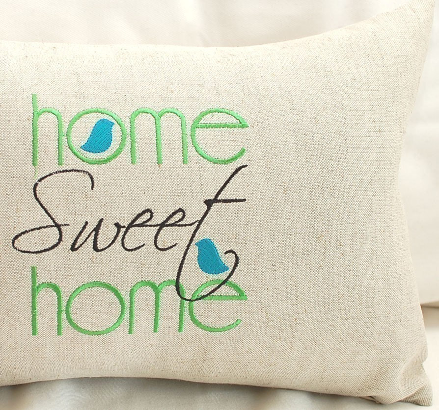 Home Sweet Home Machine Embroidery Design