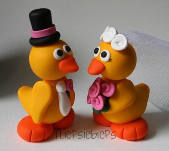 Custom Duck Wedding Cake Topper Yellow