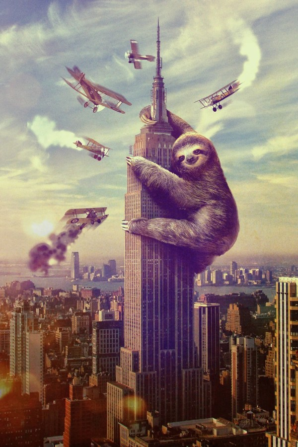 Sloth On Empire State Building