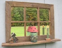 Large Rustic Old Barnwood Window Pane Mirror by ...