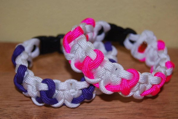 Breast Cancer And Relay Life Paracord Bracelet