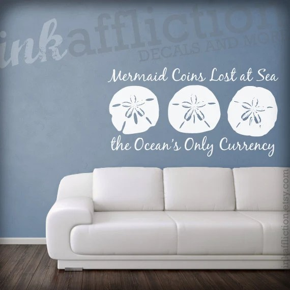 Items similar to Sand Dollar Quote Wall Decal  LARGE 36 x 19 on Etsy