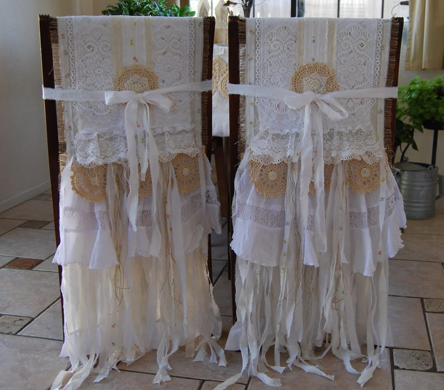 bride and groom chair covers las vegas office chairs my whole heart vintage lace burlap by