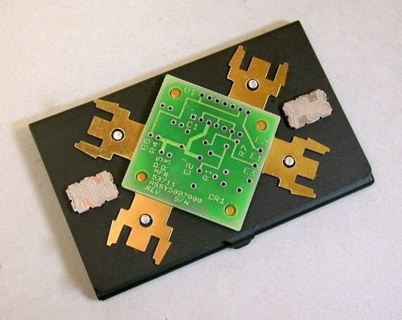 Recycled Circuit Board Business Card Holder Geekery Organizer