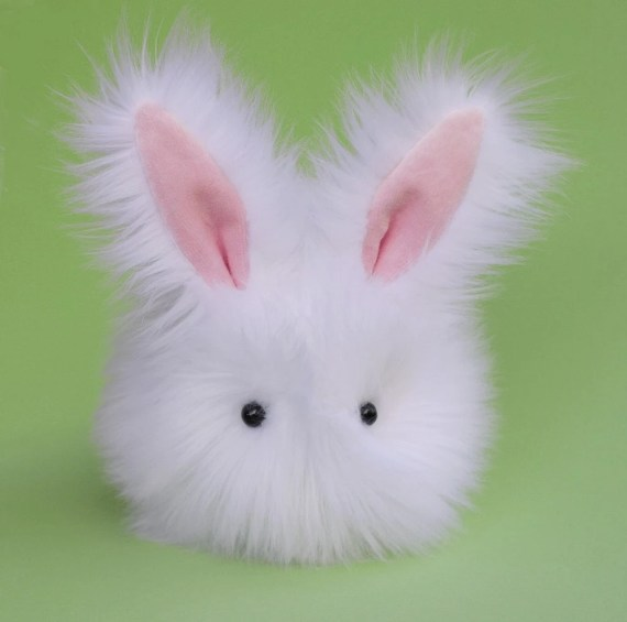 Cottonball the Stuffed Bunny Plushie Baby Size - Zygopsyche