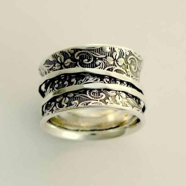 Meditation Ring Sterling Silver Spinners Artisanlook