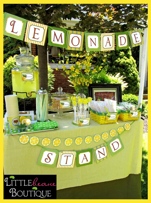 Lemonade Stand Printable Collection Diy Littlebeane Boutique