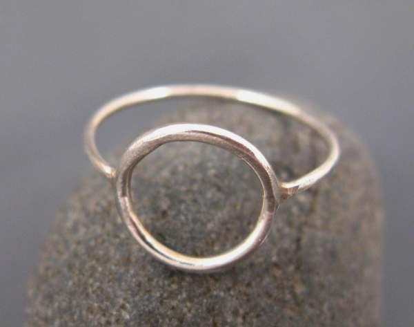 Silver Circle Ring Eternity Karma Dvoraschleffer