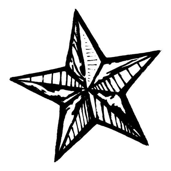 Texas Star MOUNTED Rubber Stamp by texanadesigns on Etsy