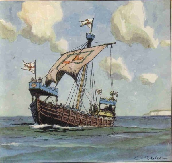 Ship Art Historical Naval Facts Book Litho Prints Famous