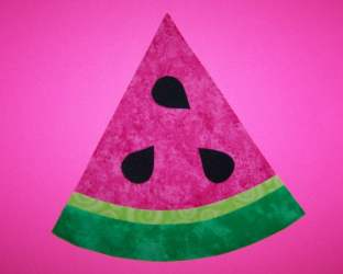 watermelon template applique etsy fabric slice