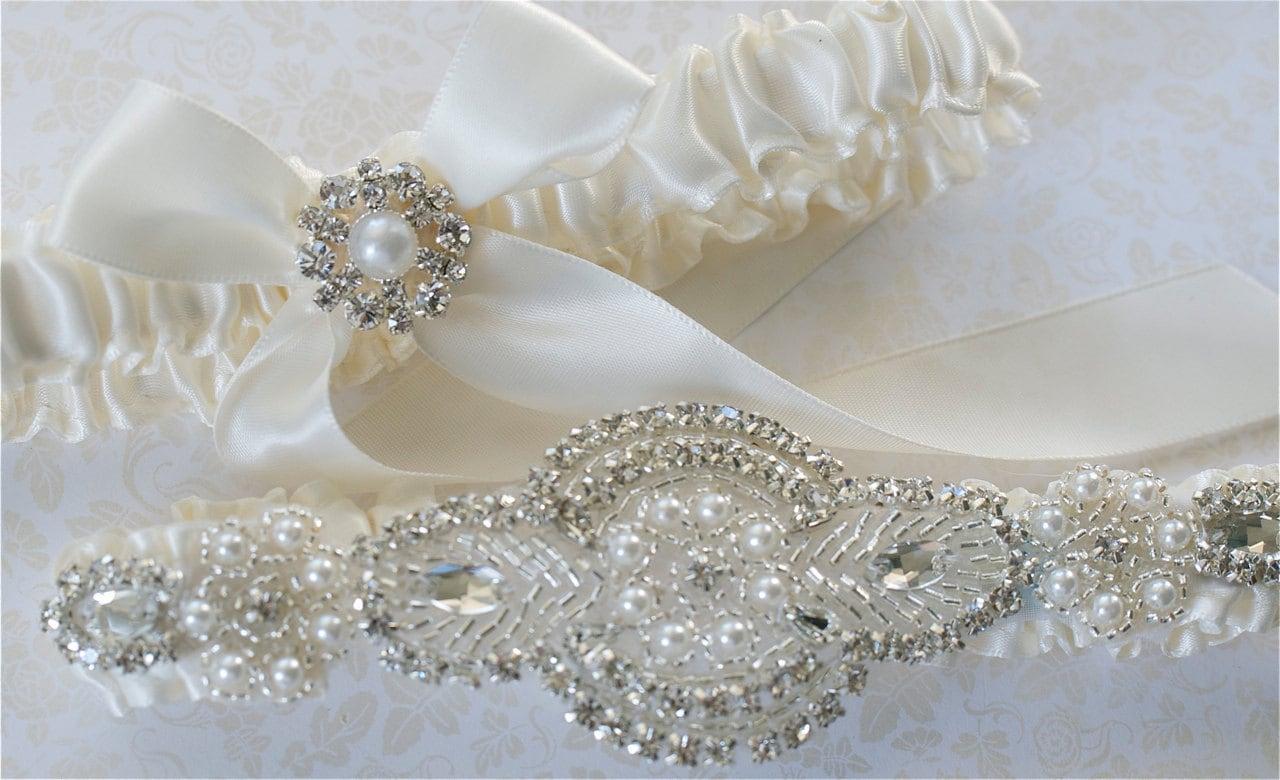 Wedding Garter Garter Set Pearl And By GartersByGarterLady