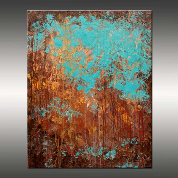 Original Abstract Modern Painting Title Recollection