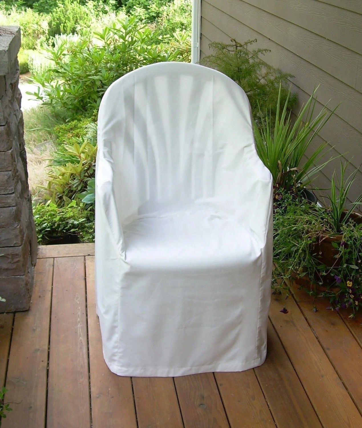 Slipcover Pattern Outdoor Resin Chair LowBack Old Style