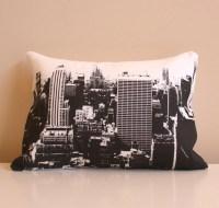 New York City Skyline Throw Pillow // City Skyline by