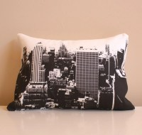 New York City Skyline Throw Pillow // City Skyline by ...
