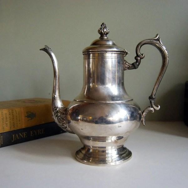 Vintage Teapot Silver Plate Copper Crosby