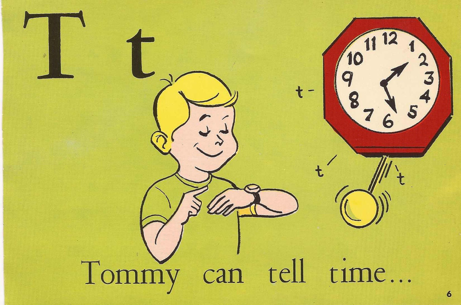 Vintage Flash Card Letter T Phonics And By Salvagenation