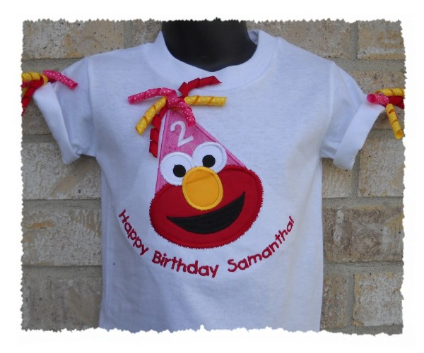 Elmo 1st 2nd 3rd 4th Birthday Hat Personalized T Shirt