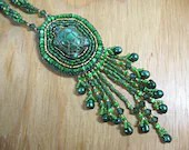 Handmade Turtle Necklace -- Beaded Woodland Jewelry - ErtheFae