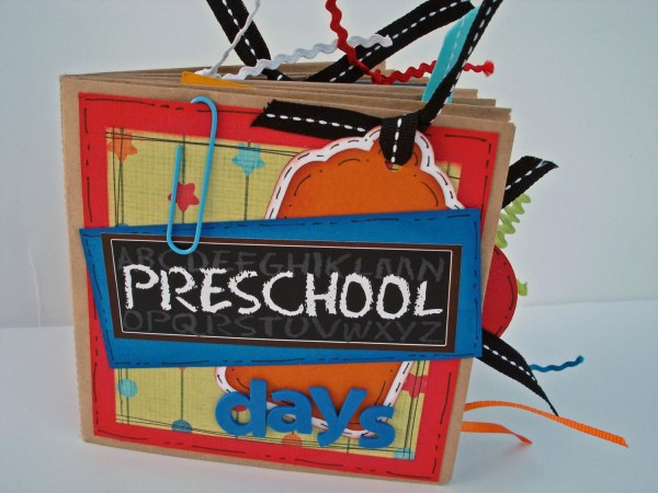 Preschool Scrapbook Cover Page