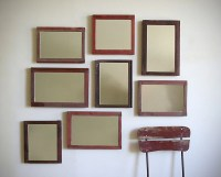 Salon Wall Grouping Of Antique Framed Mirrors On by RowansRoom