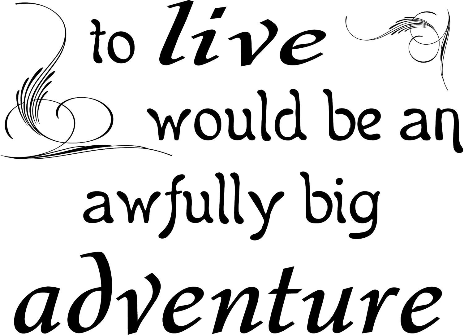 To Live Would Be An Awfully Big Adenture 21.5 x 30