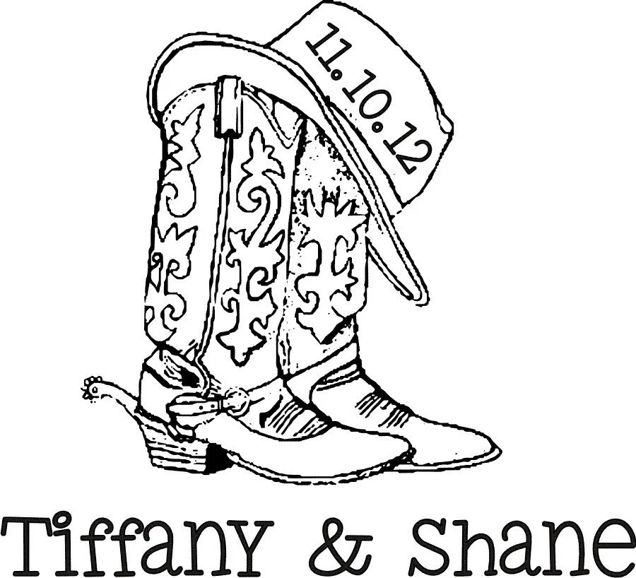 Items similar to Cowboy boots and hat custom monogram