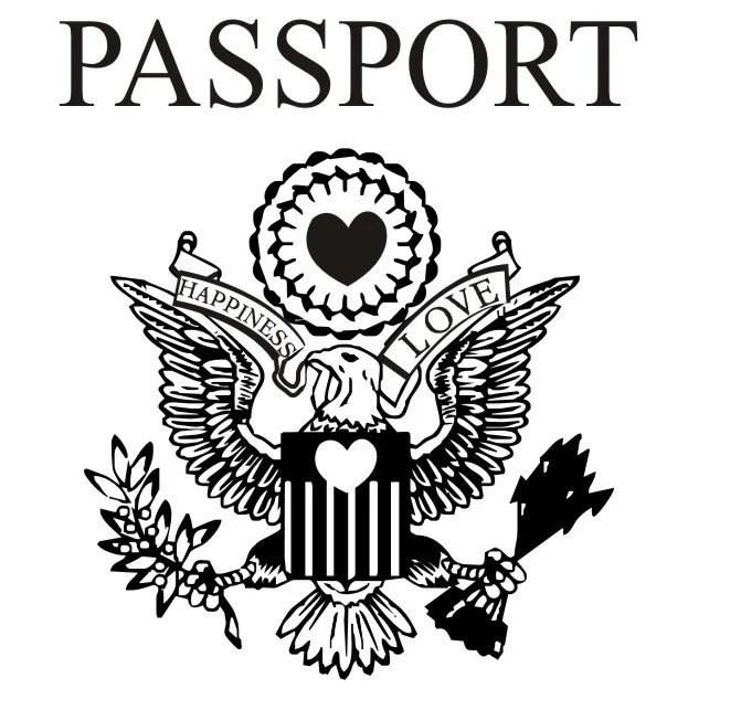 passport wedding rubber stamp destination by stampoutonline