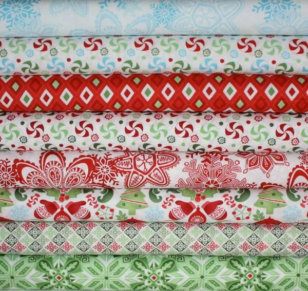 Flurry Christmas Fabric Kate Spain Moda Fabrics Yard
